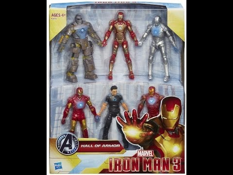 Marvel review: Iron Man 3 Amazon exclusive Hall of Armor 6 pack