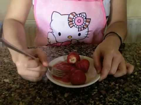 Home made STRAWBERRY YOGURT mask tutorial