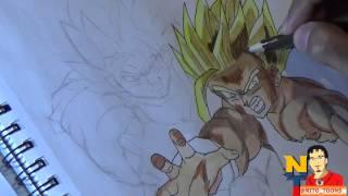 [Drawing Goku and Gohan DBZ (Dibujando a Goku y Gohan Dragon ...] Video