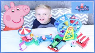 Thomas the train and Peppa Pig surprise and toy review!!!