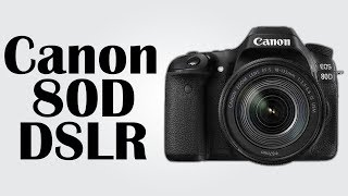 Canon 80D DSLR - 45-point autofocus / 24.2MP CMOS image sensor / DIGIC 6 digital image processor