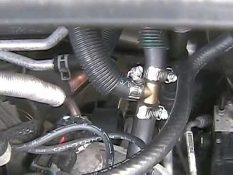 Minivan Heater Hose Leak at Y pipe 2008 2009 2010 Chrysler Town and Country Dodge Caravan VW Routan