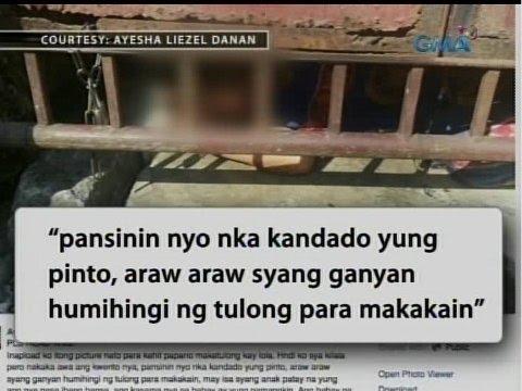 24 Oras: Exclusive: Litrato ng lolang tila nakakulong sa bahay, kumalat online