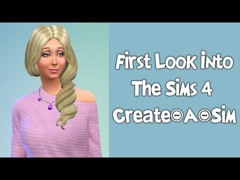 First Look into The Sims 4 CAS!