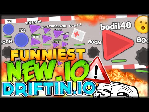 THE FUNNIEST NEW .IO GAME WITH FRIENDS!! BECOMING THE FASTEST (DRIFTIN.IO - like Agar.io/Slither.io)