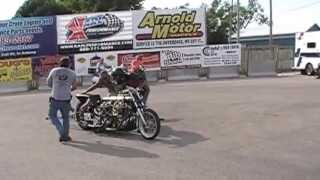 Vintage Double Engine Harley Drag Bike
