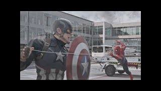 Spiderman Vs Capitán América /Pelea Del Aeropuerto Part-3 (IMAX HD) LATINO Capitán América Civil War