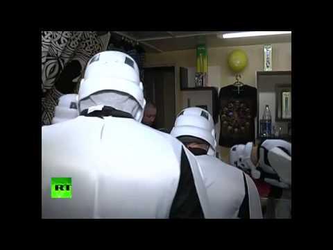 Darth Vader Leads Ukraine Drug Raid