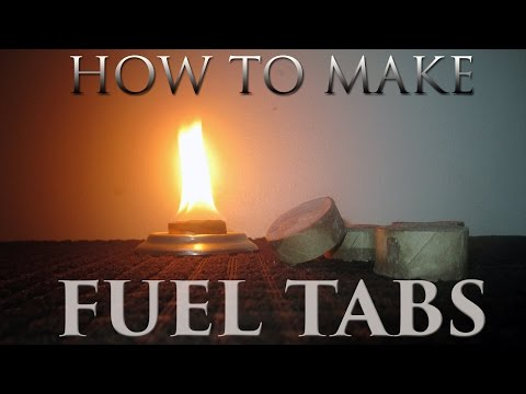 How To Make Fuel Tablets