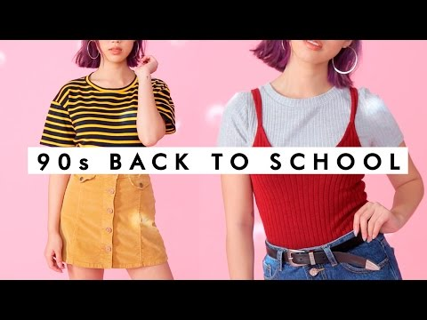 90's COZY Back to School Outfits! - YouTube