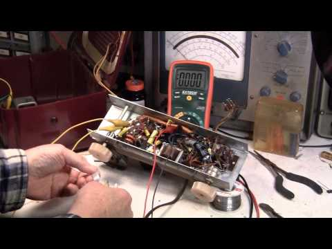 Portable Tube Radio Repair, Critical Step, choosing power resistor