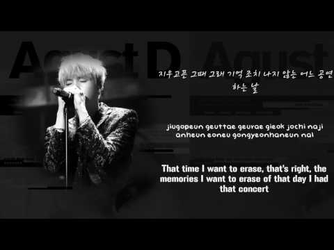 BTS Suga (AGUST D) - The Last 마지막 [Lyrics Han|Rom|Eng]