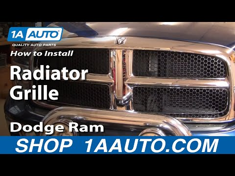 How To Install Repair Replace Radiator Grille Dodge Ram 02-08 1AAuto.com