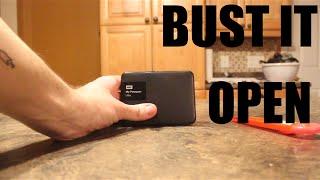 Opening Western Digital My Passport Ultra 1TB USB 3.0 External Hard Drive