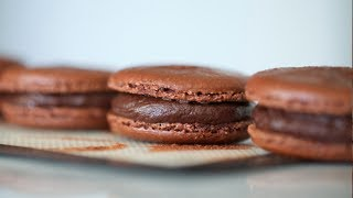 """Thin Mint"" Macarons"