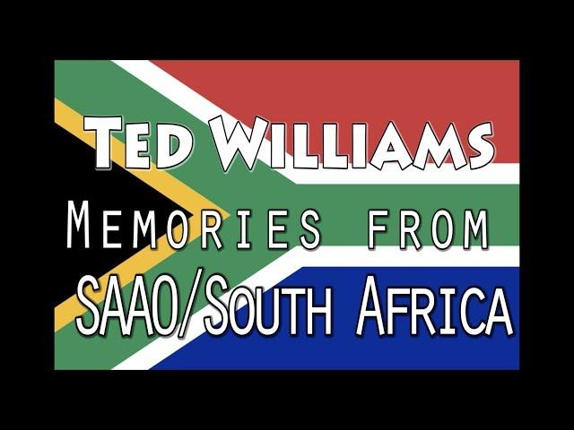 SAAO bids farewell to Prof. Ted Williams