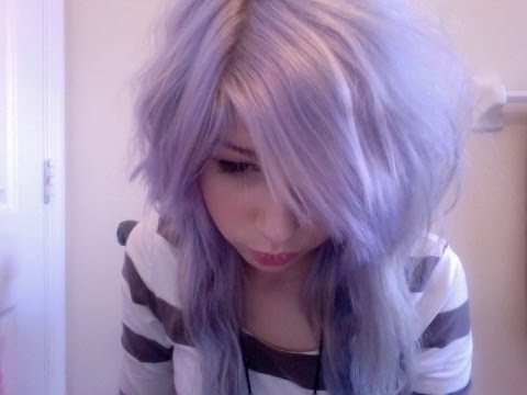 how to dye pastel lilac hair youtube