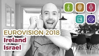 Ireland & Israel reaction (Eurovision 2018 – My Top 38 part 2)
