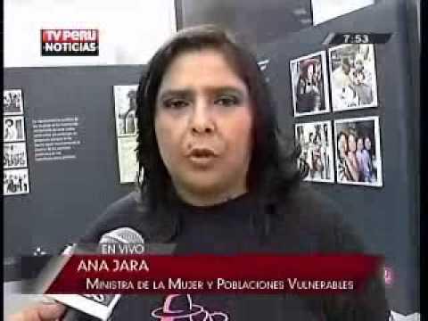 Declaraciones de la ministra de la Mujer en San Borja. (Canal 7) - 08 Mar 2013