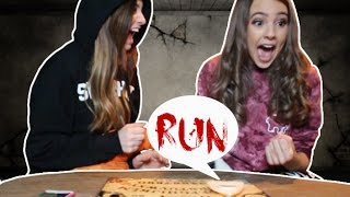 USING THE OUIJA BOARD IN MY HAUNTED HOUSE with CAYLA