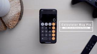 Strange Calculator Bug Fixed in iOS 11.2