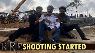 RRR Movie #RRRShootBegins | SS Rajamouli #RRR Shooting | Jr NTR | Ram Charan | SS Rajamouli