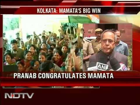 Pranab Mukherjee congratulates Mamata