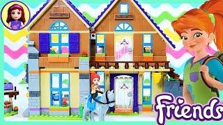 Lego Friends Mia's House Build Part 1 Review for Kids