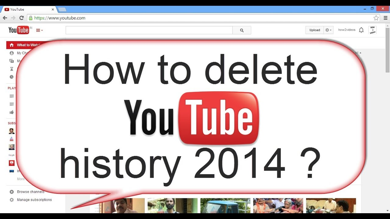how to delete youtube history permanently