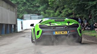 McLaren 675 LT insane drifts and burnout mode!!