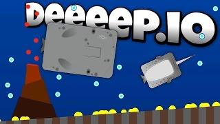 Deeeep.io - Giant Sperm Whale Attacks Narwhal! - New Animals! - Lets Play Deeeep.io Gameplay