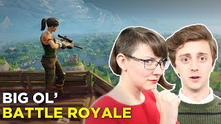 FORTNITE 20-versus-20-versus-20-versus-20-versus-20 - Jenna and Brian Join a Big Ol Team