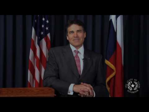 Governor Rick Perry introduces Ebby Halliday