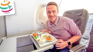 Lufthansa Business Class A319 HAJ-MUC | GlobalTraveler.TV