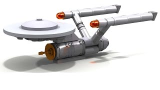 Lego Star Trek - NCC 1701 Enterprise (Micro) + INSTRUCTIONS