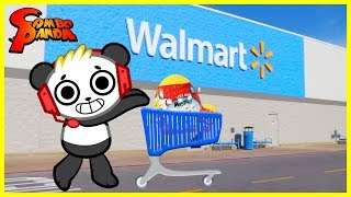 COMBO PANDA TOYS ARE HERE ! Ryan's World Toy Shopping at Walmart and Unboxing Surprise Toys