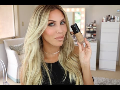 Younger Looking Skin with Foundation?! Glo Minerals Luxe Liquid Foundation Review + Swatches