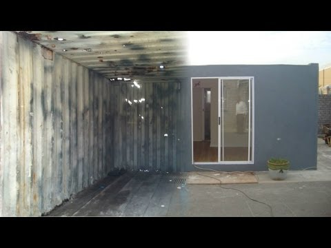 RDP sized house made from disused shipping containers