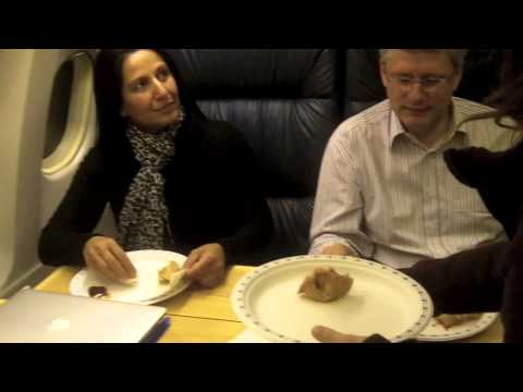 Stephen Harper on plane.mov
