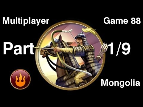 Civilization 5 Multiplayer 88: Mongolia [1/9] ( BNW 6 Player Free For All) Gameplay/Commentary