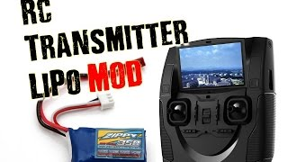 Convert Any R/C Transmitter To Rechargeable Packs (LiPo etc)