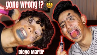Blindfolded Makeup Challenge W Diego