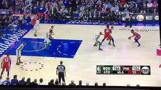 Joel Embiid Turnover leads To Marcus Smart Two Hand Dunk In Celtics Win