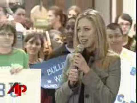 Chelsea Clinton Bristles at Lewinsky Question