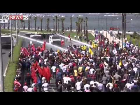 Turkey Mine Tragedy Protesters Battle Police