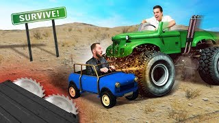 Dodge The GIANT Monster Truck Challenge! | GTA5
