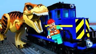 LEGO Мультики про ДИНОЗАВРОВ 🦖 ЛЕГО Мир Юрского Периода 13 (Атака ЖД Терминала)