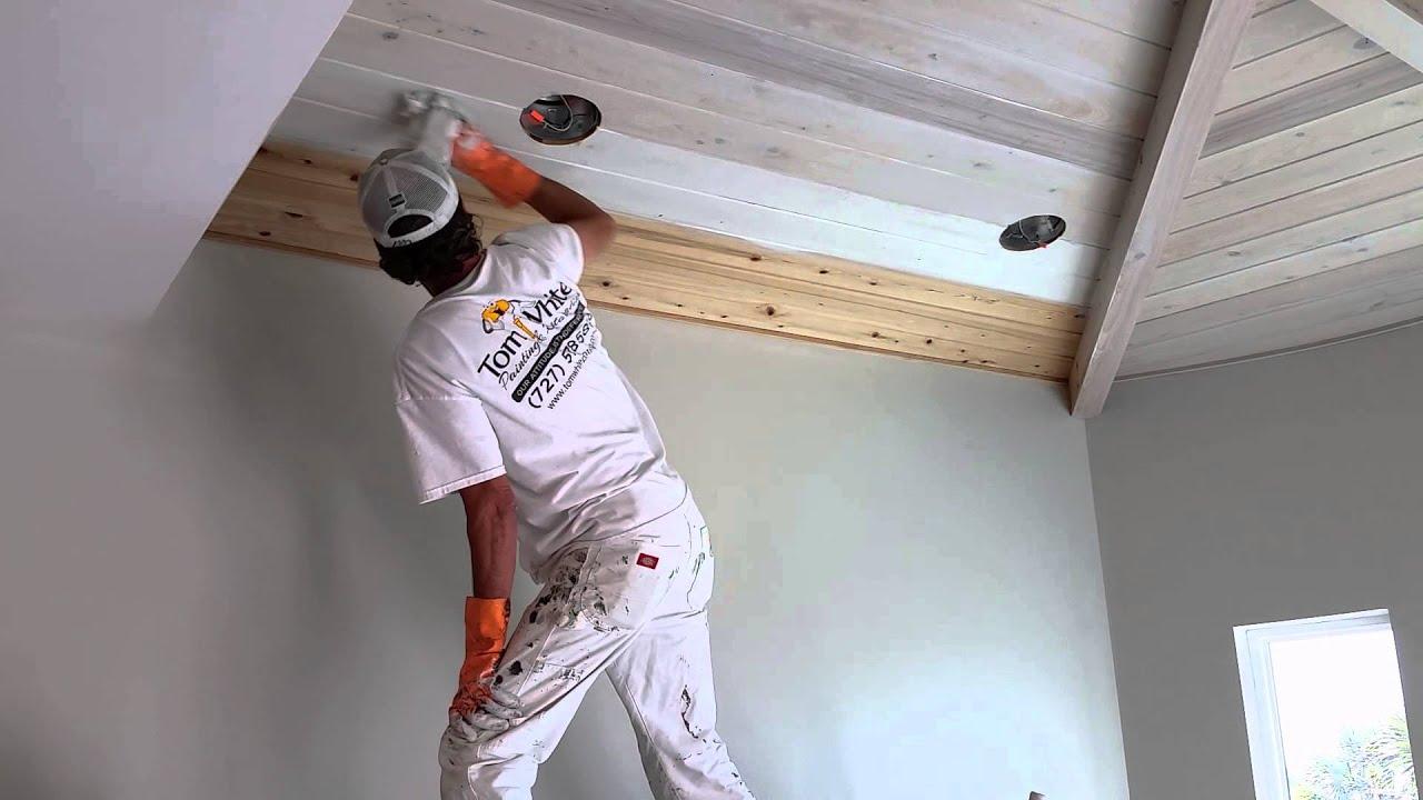 Как побелить потолок своими руками не смывая побелку