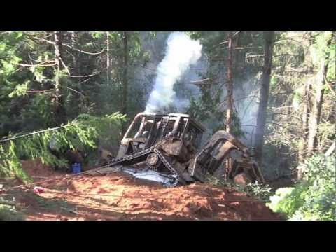 D 4 High Track Dozer Rollover and Recovery