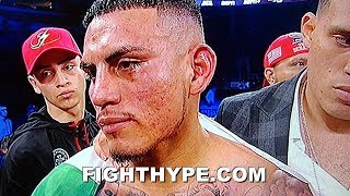 JOSE BENAVIDEZ SECONDS AFTER GETTING KNOCKED OUT BY TERENCE CRAWFORD; EXPLAINS WHAT WENT WRONG
